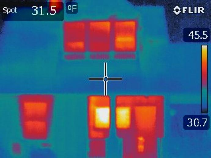 Infrared Image of a Home