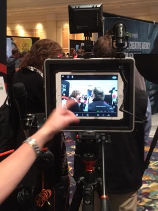 Photo of Video Recording Exhibit at DevLearn Conference and Expo 2018