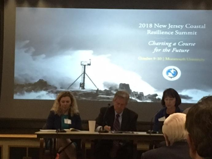 Photo of Kathleen Frangione, Frank Pallone and DEP Commissioner Catherine McCabe at Summit